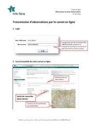 Manuel transmission d'observation - Info Flora