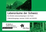 Lebensräume der Schweiz - Info Flora