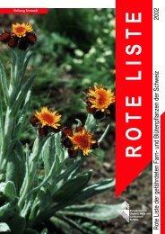 Rote Liste der gefährdeten Farn- und Blütenpflanzen der ... - Info Flora