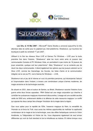 Les Ulis, le 10 Mai 2007 – Microsoft® Game Studios a ... - infohightech