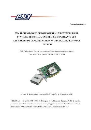 pny technologies europe offre aux revendeurs de ... - infohightech