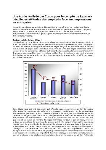 Une étude réalisée par Ipsos pour le compte de ... - infohightech