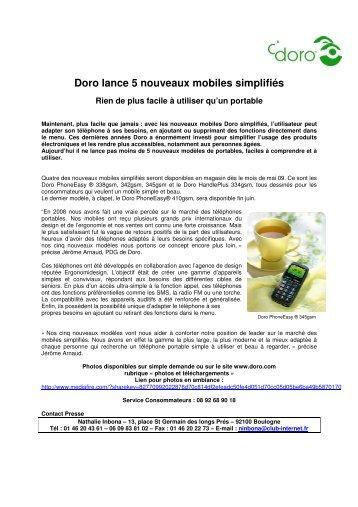 Doro lance 5 nouveaux mobiles simplifiés - infohightech