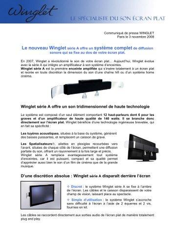 Le nouveau Winglet série A offre un système complet ... - infohightech
