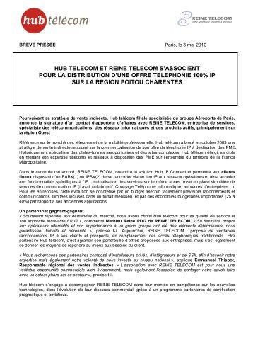 hub telecom et reine telecom s'associent pour la ... - infohightech