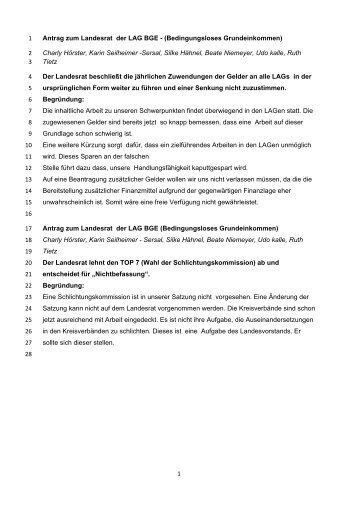 1 Antrag zum Landesrat der LAG BGE ... - Die Linke NRW