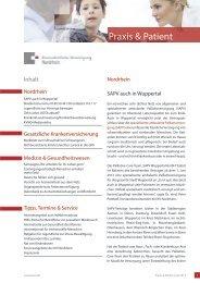 Praxis & Patient   Juli 2013 - Kassenärztliche Vereinigung Nordrhein