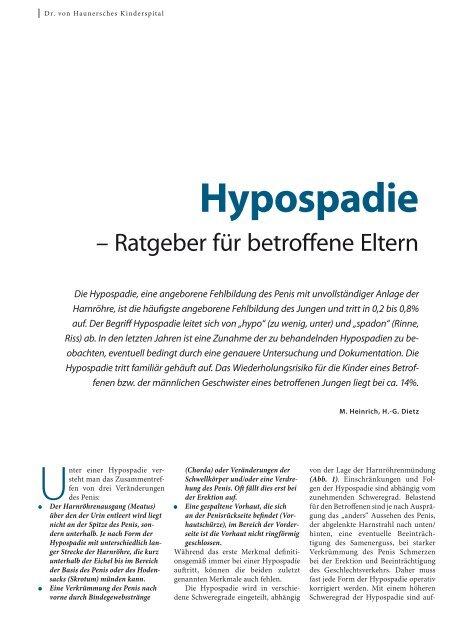 Hypospadie - Hauner Journal
