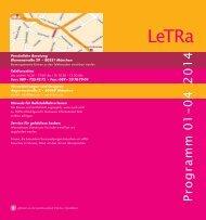Programm kann hier auch als PDF-Datei - LeTRa
