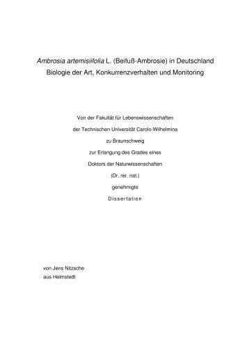 Ambrosia artemisiifolia L. (Beifuß-Ambrosie) in Deutschland ...