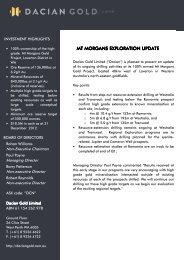 5 March 2013 - ASX Release Mt Morgans Exploration ... - Dacian Gold