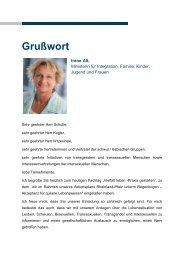 Grußwort von Irene Alt - Ministerium für Integration, Familie, Kinder ...