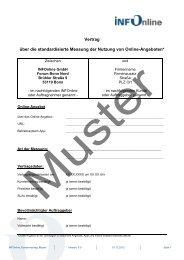 Vertrag über die standardisierte Messung der Nutzung ... - INFOnline