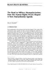 HeinOnline -- 23 Hum. Rts. Q. 678 2001 - David Chandler