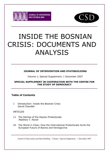 the bosnian crisis The first balkan crisis- 1908 this crisis started when austria-hungary annexed bosnia austria-hungary annexed bosnia because they wanted to expand their empire into the balkans.