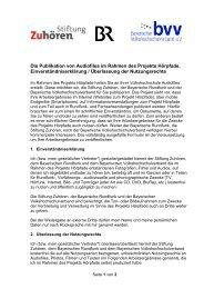 Einverständniserklärung Hörpfade - Bayerischer ...