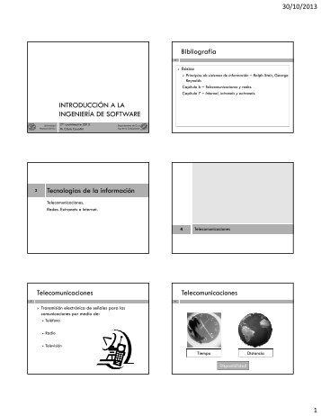 INTRODUCCIÓN A LA INGENIERÍA DE SOFTWARE Bibliografía ...