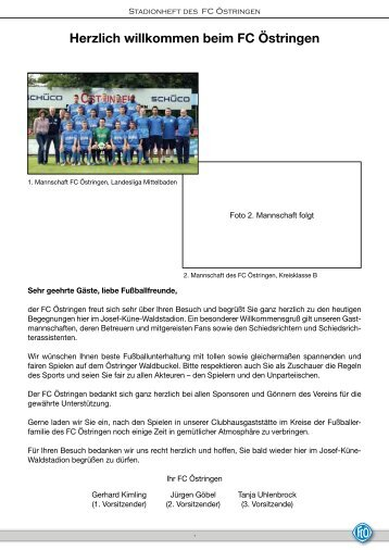Stadionheft vom 14.09.2013 - FC 1922 Östringen eV