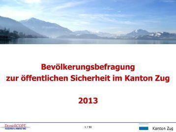 Ergebnisse Sicherheitsbefragung Zug 2013.pdf - DemoSCOPE