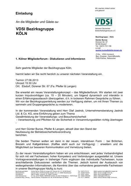 Einladung 27.06.2013 - VdSI
