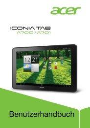 Benutzerhandbuch des Acer IconiaTab A701 ... - 1&1 Hilfe Center