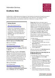 EndNote Web - Cardiff University