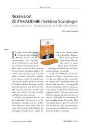 Rezension: ZEITAKADEMIE / Sektion Soziologie