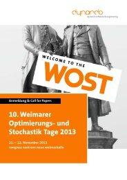 10. weimarer optimierungs- und Stochastik tage ... - Dynardo GmbH