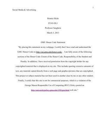 Social Media and Advertising PDF - George Mason University