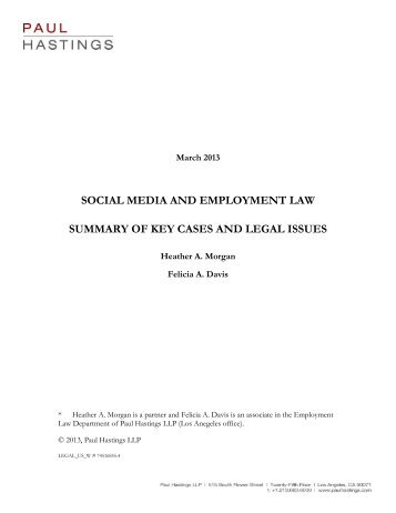 social media and employment law summary of key cases and legal ...
