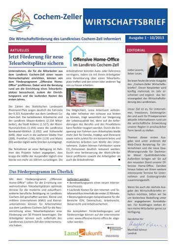 1. Ausgabe: Oktober 2013 - Landkreis Cochem-Zell