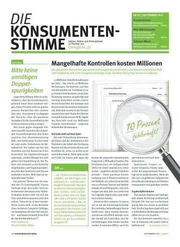 Gedruckte Ausgabe (herunterladen) - Comparis.ch