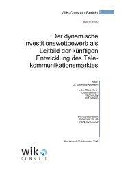 Der dynamische Investitionswettbewerb als Leitbild der ... - Breko