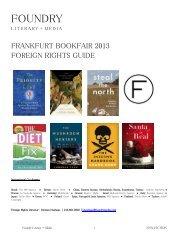 FOUNDRY - GRAAL Literary Agency