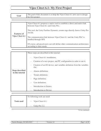Vijeo Citect 6.1 - Instrumentacion, Control y Automatizacion Industrial