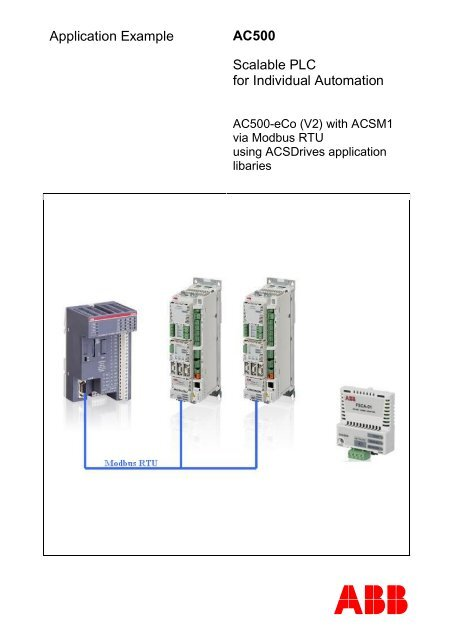 Application Example AC500 Scalable PLC for Individual     - Info PLC