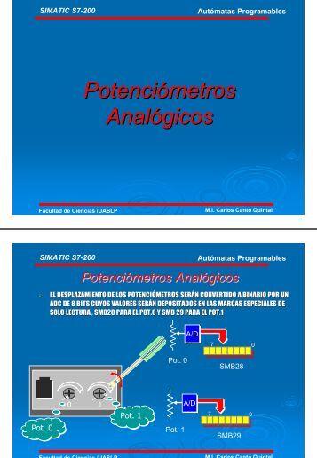 Potenciómetros Analógicos - Facultad de Ciencias