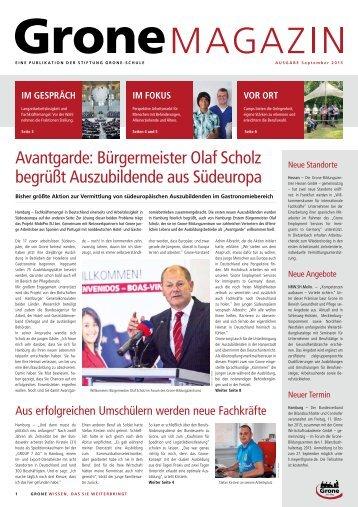 Bürgermeister Olaf Scholz begrüßt Auszubildende aus Südeuropa