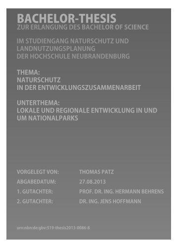BACHELOR-THESIS - Hochschule Neubrandenburg