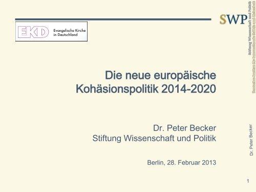 Präsentation zum Vortrag von Dr. Peter Becker