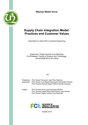 Supply Chain Integration Model: Practices and ... - RUN UNL
