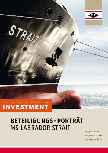 Beteiligungs-Porträt MS Labrador Strait - Carsten Rehder