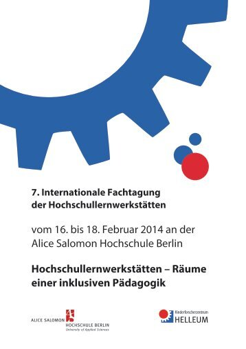 Flyer - Alice Salomon Hochschule Berlin