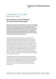 Werner Baumann zum neuen Präsidenten des Deutschen