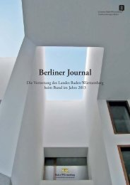 Berliner Journal (PDF) - Baden-Württemberg