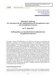 Stellungnahme von Prof. Dr. Andreas Maurer, Stiftung Wissenschaft ...