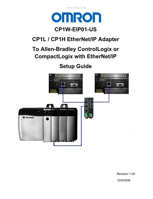 CP1W-EIP01-US CP1L / CP1H EtherNet/IP Adapter To     - Info PLC