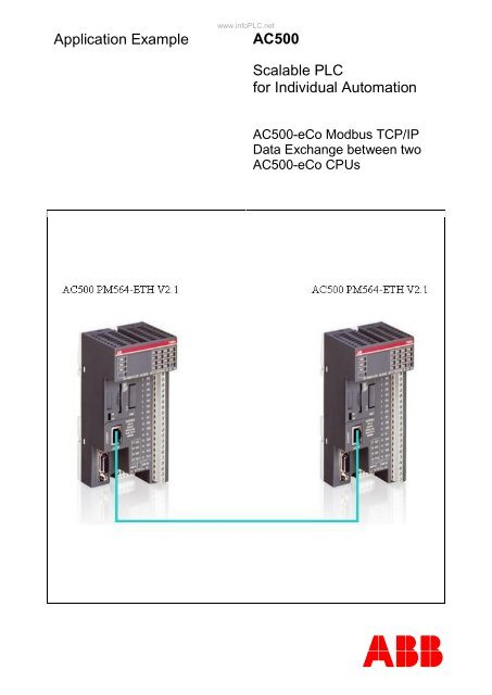 Application Example AC500 Scalable PLC for Individual