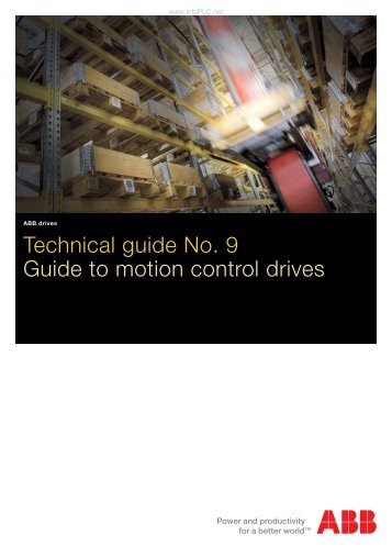 Technical guide No. 9 - Guide to motion control drives - Info PLC
