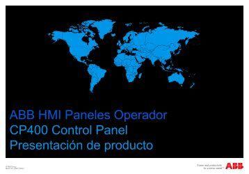 ABB HMI Paneles Operador CP400 Control Panel Presentación de ...